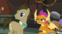 Dr. Hooves and Smolder look to other students S9E20