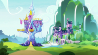 Exterior view of Castle and School of Friendship S8E15