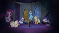 Main cast in Celestia's reading room S4E03