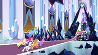 Mane Six charging at King Sombra S9E1