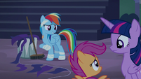 """Rainbow Dash """"Spitfire's got me cleaning"""" S6E7"""