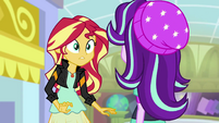 Starlight Glimmer walks up to Sunset Shimmer EGS3