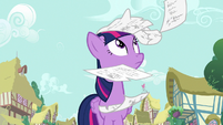 Twilight Sparkle looking up at the sky S7E14