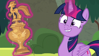 Twilight Sparkle smiling proud of herself S8E6