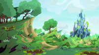Changeling Kingdom covered in greenery S7E17