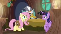 Fluttershy -we have to go now!- S7E20