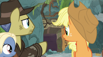 Indiana Jones pony pointing at a cave S7E25