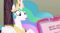 Princess Celestia gets interrupted S8E1