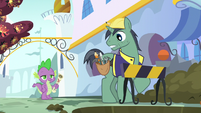 Public Works Pony surprised to see Spike S5E10