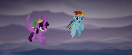 Rainbow sings and flies with Twilight MLPTM