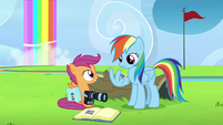 "Scootaloo ""learns the error of her ways"" S7E7"