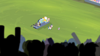 Stadium crowd cheering for Spike to sing S4E24