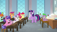 Twilight tells Crusaders to come with her S8E12
