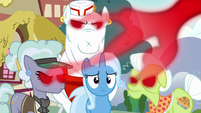 Anger drains out of infected ponies' eyes S7E2