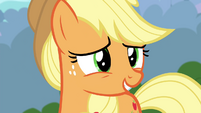 Applejack apologizing to Fluttershy S4E16