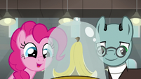 Pinkie interested in super-slip banana peel S9E14