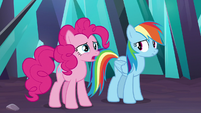 Pinkie thinking about the Cake twins S9E2