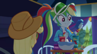 Rainbow Dash holding a cream bottle CYOE15a