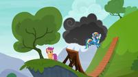 Rainbow Dash reveals the storm cloud S6E7