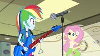 Rainbow and Fluttershy start singing Better Than Ever EG2