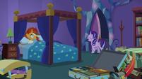 Starlight Glimmer bursts into Sunburst's room S7E24