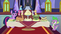Twilight with a table of foods S5E11