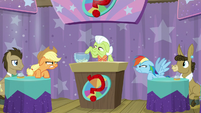 AJ and Rainbow stare each other down S9E16