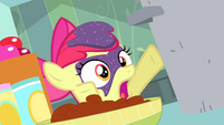 Apple Bloom covered in grape jam S4E17