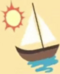 Sailboat and sun