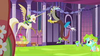 Discord dancing in midair S5E7