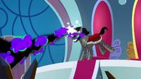 Sombra firing another dark magic beam S9E2