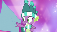 Spike touching fancy fabric MLPBGE