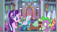 Starlight and Spike look hopeful at each other S8E15