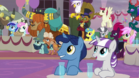 Twilight's parents and friends at the coronation S9E26