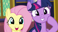 Twilight and Fluttershy very pleased S6E11
