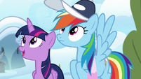 Twilight and Rainbow watch Sky and Vapor fly S6E24