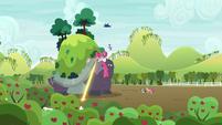 Celestia and Luna attack Mr. Tortoise-Snap S9E13