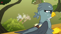 Crusaders duck into a bush as Gabby looks for them S6E19