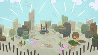 Desert village restored in Pinkie Pie's story S7E11