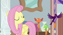 Fluttershy nodding to her birds S8E12