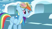 Rainbow Dash removing gogglesS3E7