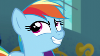 Rainbow Dash smirking S6E7