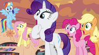 Rarity and company gasping S4E01