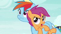"""Scootaloo """"where are we going?"""" S8E20"""