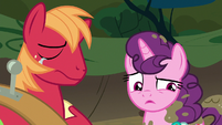 Sugar Belle confused by Big Mac's words S8E10