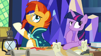Sunburst and Twilight Sparkle briefly confused S7E24