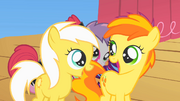 Sunny Daze and Peachy Pie happy S1E18.png