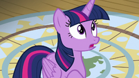 Twilight Sparkle surprised to see Iron Will S7E22