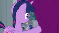 Twilight watches ponies fill the seats S8E7