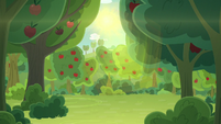 Apple orchard bathed in sunlight S9E10